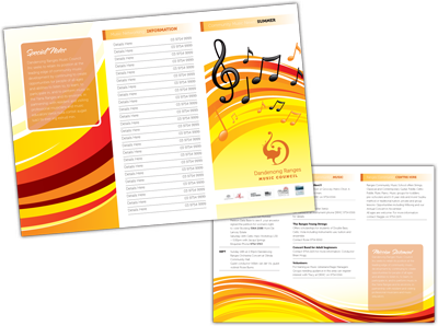 Brochure Development in Ringwood – Music Brochure