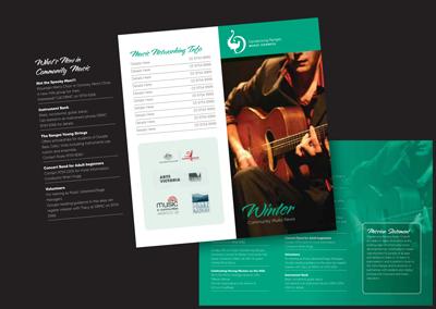 Victoria Branding Design – Music Brochure